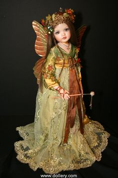Ambra, 2009 porcelain commission fairy by Lorella Falconi, an Italian artist who now resides in Canada