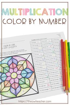 Engage your students with this multiplication color by number activity! Help students practice their multiplication facts while engaging them in this math center that is perfect for any upper elementary classroom! Multiplication Activities, Math Activities, 4th Grade Multiplication, Math Fractions, Numeracy, Elementary Math, Upper Elementary, Math Fact Practice, Fourth Grade Math