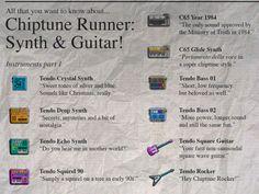 Chiptune Runner Instruments Part 1 #conceptart #chiptune @GameDev #indiegame #game