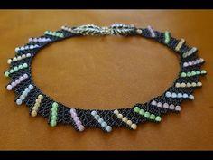Колье из бисера. Бисероплетение. Мастер класс / Necklaces of beads. Beading - YouTube