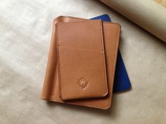 Small Castle iPhone5 case and Moleskine notebook cover in English Bridle Leather