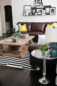 Personalize your family room with accessories that mean something special to you and your loved ones.  HomeGoods has a great selection of fun finds that represent everyone's tastes.  Sponsored Pin.