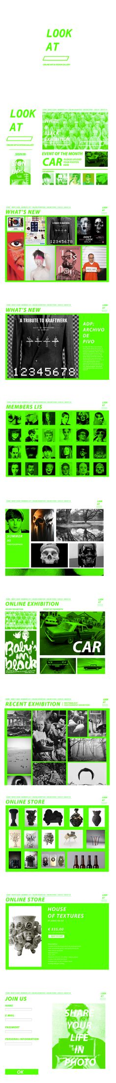 LOOK AT online art&design gallery(web design homework) on Behance