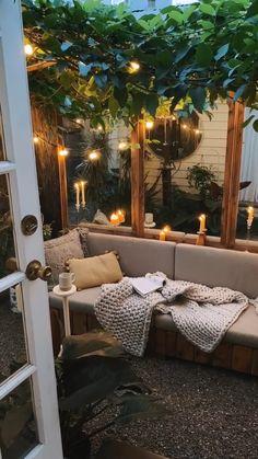 Small Backyard Design, Backyard Patio Designs, Small Backyard Landscaping, Backyard Ideas, Patio Ideas, Small Patio, Diy Patio, Small Balcony Decor, Balcony Ideas