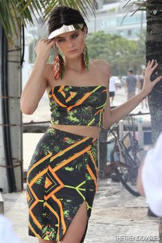 Isabeli Fontana at a photoshoot for Morena Rosa at Ipanema Beach in Rio de Janeiro, Brazil - April 2, 2013