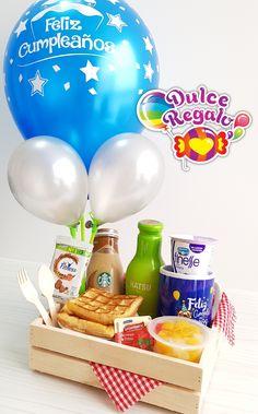 Creative Birthday Gifts, Cute Birthday Gift, Happy Birthday, Gift Hampers, Gift Baskets, Nurse Party, Cacao Chocolate, Birthday Breakfast, Sweet Box