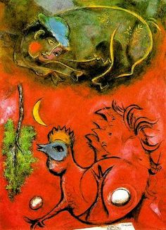 MARC CHAGALL  At Cockcrow, 1944
