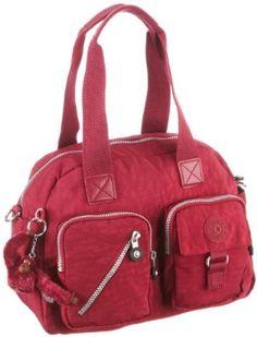 Kipling Women's Defea Medium Handbag Royal Red K13636102. AWESOME BAG ! #kipling #handbag #satchel #purse $112.