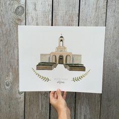Newport Beach LDS Temple Print