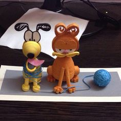Garfield #quilling3d #garfield #pluto #dog #cat