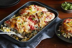This is what happens when a good ol' chicken casserole gets a boost of flavour from cilantro, salsa and Tex Mex cheese. You get an easy baked chicken dish with cheesy rice and a spicy kick.