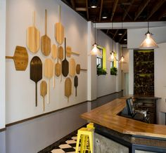 pizza paddle on restaurant wall - Google Search