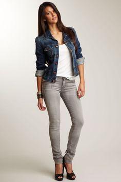 Love these gray skinny jeans by Big Star Denim :)
