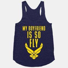 I would so wear this if I had a bf in the air force!