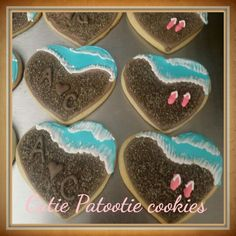 Sea shore cut out cookies