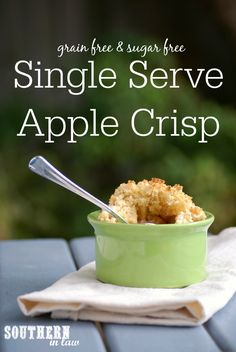 Low Calorie Single Serve Apple Crisp Recipe - single serving apple ...