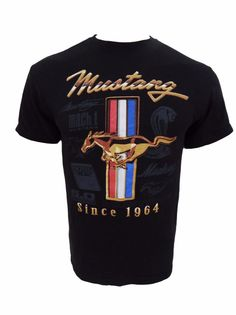 Ford Mustang Shirt Size M Medium Since 1964 5.0 Shelby Cobra Mach One Boss #Delta #GraphicTee