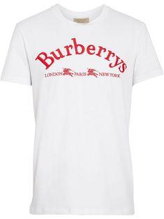 161a5b67a02 BURBERRY archive logo cotton T-shirt.  burberry  cloth. ModeSens Men