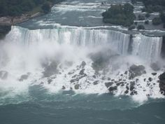 Buffalo Falls, US side of Niagara Falls (as seen from the Skylon Tower)