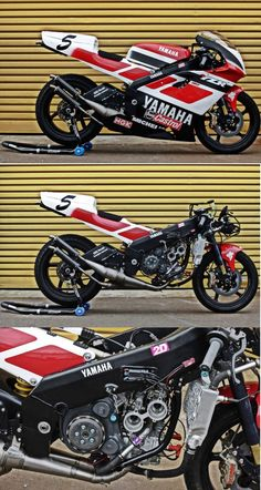 this is a replica of the late Norick Abe's 1997 race machine. Yamaha Cafe Racer, Yamaha Motorcycles, Honda Cb750, Ducati, Cars And Motorcycles, Cafe Racer Style, Old Bikes, Motorcycle Design, Super Bikes