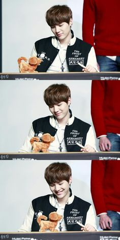 Ahhhh, puppy + Suga is love. even though its just a toy. Hahaha