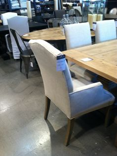 Restoration Hardware Dining Room Table At Outlet. I WANT THESE CHAIRS!!  LOVE!