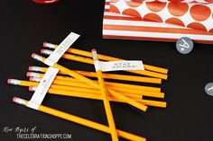 Back To School Free Printables | Pencil toppers, Cake Toppers, & More | Kim Byers, TheCelebrationShoppe.com