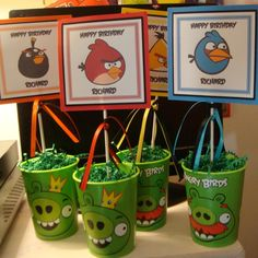 Angry Birds Party Favors #angrybirds #partyfavors