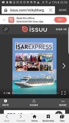 Dr Shivani Sachdev Gour -  General Secratery Delhi State ISAR Chapter. On cover page of ISAR Express News Letter 2017  SCI ( Surgical Centre of India)  Training Course for IUI and IVF on the cover page of ISAR Express 2017