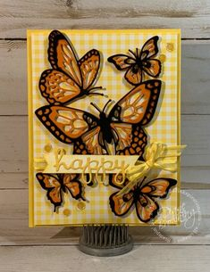 Butterfly Beauty Butterfly Birthday Cards, Butterfly Cards, Card Making Tutorials, Making Ideas, Bee Cards, Birthday Cards For Women, Scrapbook Cards, Scrapbooking, Hand Stamped Cards
