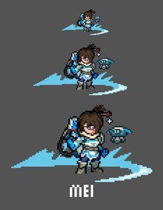 [Pixel Art] - Mei-Ling Zhou Overwatch Sprite Twitter:  pic.twitter.com/oFKvdCU5WL
