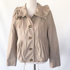 ANN TAYLOR LOFT KHAKI JACKET Funnel collar. Never been worn. Ann Taylor Jackets & Coats