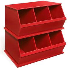 great stackers for a mudroom of a kid's room.