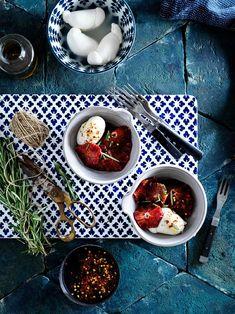 Mozzarella Prosciutto, Palak Paneer, Food Photo, Chocolate Fondue, Mozzarella, Food Styling, Lunch, Ethnic Recipes, Desserts