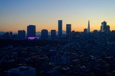 Sunset in Gangnam District Seoul South Korea [16001068]