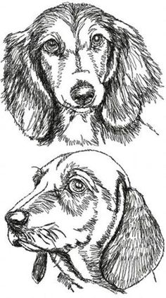 Advanced Embroidery Designs - Dachshund Set