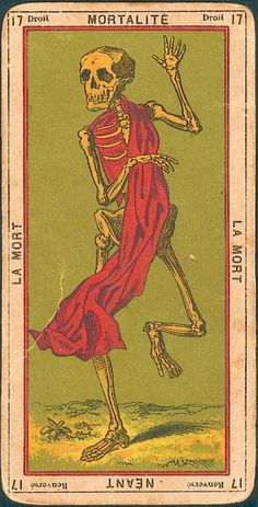 La mort - the Death Tarot archtype Xiii Tarot, Art Et Illustration, Illustrations, Vintage Tarot Cards, La Danse Macabre, Arte Van Gogh, Art Carte, Arte Obscura, Major Arcana
