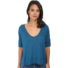 Free People Triblend Jersey Crescent Moon Tee Women's Short Sleeve... ($41) ❤ liked on Polyvore featuring tops, t-shirts, multi, blue t shirt, jersey t shirts, oversized t shirts, free people t shirts and short sleeve scoop neck tee