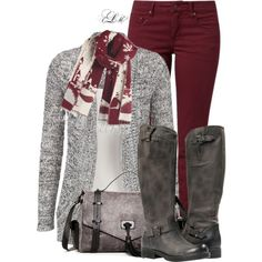 A fashion look from November 2014 featuring TURNOVER jeans and L.A.M.B. handbags. Browse and shop related looks.