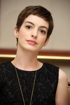 Beautiful, simple. Girls with short hair rock!