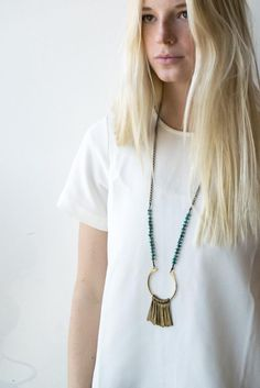 Marisa Haskell Green Beads Necklace by Marisa Haskell | Bohem