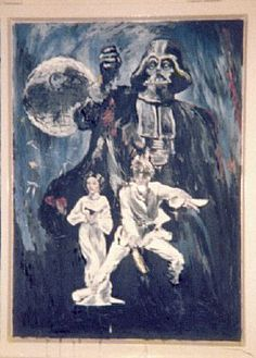 I painted this Star Wars scene in a window in Augsburg, Germany in 1977. My two year old son was thrilled.