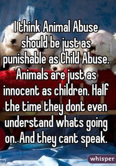 Best Inspirational Quotes About Life QUOTATION – Image : Quotes Of the day – Life Quote I think Animal Abuse should be just as punishable as Child Abuse. Animals are just as innocent as children… Sharing is Caring – Keep QuotesDaily up, share this quote ! Dog Quotes, Animal Quotes, True Quotes, Animal Cruelty Quotes, Save Animals, Animals And Pets, Kids Animals, Animals Planet, Strange Animals