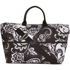 Vera Bradley Lighten Up Expandable Travel Bag in Midnight Paisley ($98) ❤ liked on Polyvore featuring bags, luggage, midnight paisley, sale and travel