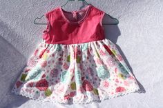 Kleider - Kinder Kleid Tunika pink rosa weiß Spitze Blumen  - ein Designerstück von trixies-zauberhafte-Welten bei DaWanda