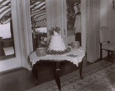A big cake for a big wedding! Photographer Arthur Burges took a photo of the Kennedy's five-tiered wedding cake during their reception in Newport, Rhode Island, which drew in more than 1200 guests on Sept. 12, 1953.