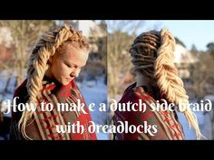 Dreadlock styled with a Dutch side braid the perfect dreadlock updo! - Dreadstuff