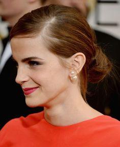 Emma Watson low bun                                                                                                                                                                                 More