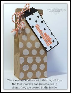 Petite Cafe Gift Bag and dot mask (stencil) from stampinup...