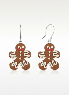 Dolci Gioie Gingerbread Man Earrings on shopstyle.com